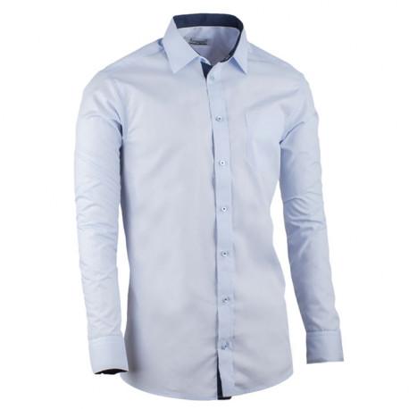 Modrá pánska košeľa slim fit kombinovaná Aramgad 30482