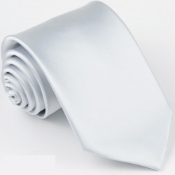 Pánska biela jednofarebná kravata Greg 99920