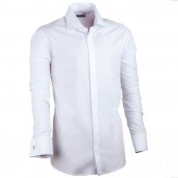 Biela pánska košeľa Assante vypasovaná 30025