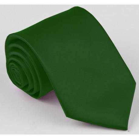 Tmavo zelená kravata jednofarebná Greg 99951