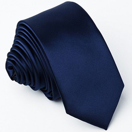 Tmavo modrá kravata jednofarebná Greg 99941
