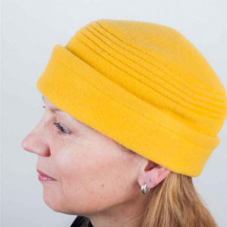 Žltá dámska elegantná čiapka TONAK 87315