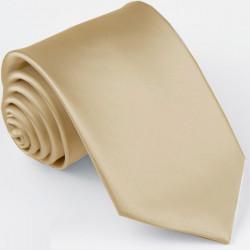 Svetlo hnedá kravata jednofarebná Greg 99922