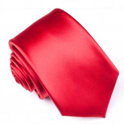 Červená jednofarebná kravata René Chagal 99965
