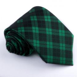 Pánska zelená kravata károvaná Greg 95013