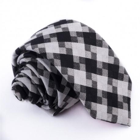 Sivá slim kravata Greg 99015