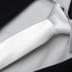 Biela slim kravata Greg 99110