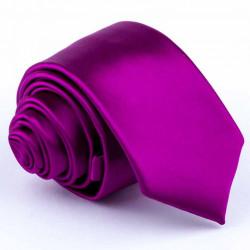 Rúžová slim kravata Rene Chagal 99164