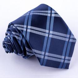 Modrá pánska kravata klasická spoločenská Greg 94108