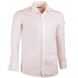 Šampaň pánska košeľa na putá náramok rovná Assante 30216