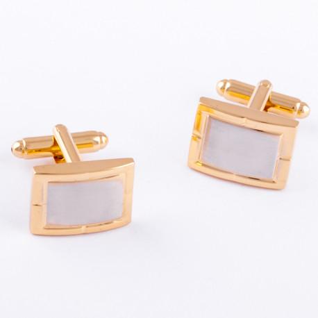 Manžetové gombíky zlato striebornej farby Assante 90547