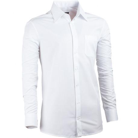 Predĺžená košeľa slim fit biela Assante 20010