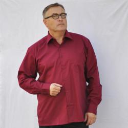 Červená pánska košeľa s dlhým rukávom rovná Friends and Rebels 30306