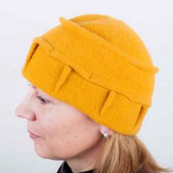 Horčicová dámska elegantná čiapka TONAK 87309